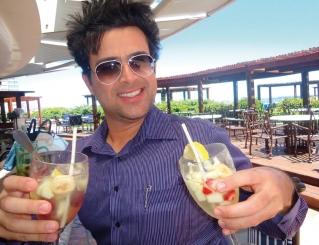 Os diversos drinks de Punta del Este, que segundo Tarcísio, são maravilhosos
