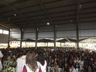 Grande número de pessoas marcam presença em seus  eventos, celebrações,  missas e retiros.