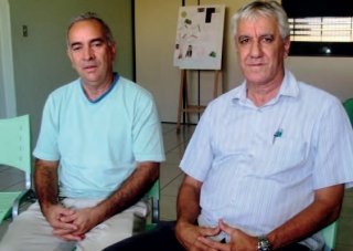 José Benedito Ferreira (vice-presidente) e Wagno Rodrigues Santana (presidente).