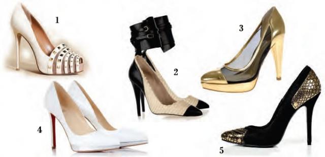 SCARPINS E CAP TOES: Valentino (foto 1); Isabel Marant (foto 2); Jorge Bischoff (foto 3); Christian Louboutin (foto 4) e Balmain (foto 5)
