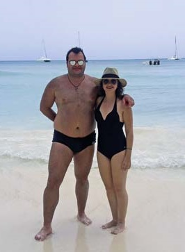 Adriano e Vanessa na Ilha de Saona.