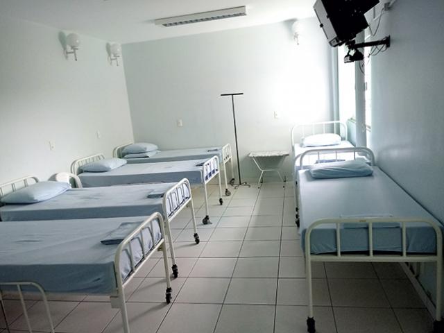 Dormitórios para pacientes.