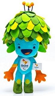 Tom é o mascote dos Jogos Paralímpicos, homenageando Tom Jobim, representa a flora brasileira.