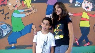 "Rafael e Amanda: integrantes do espetáculo ""Ritmo dos Sonhos�, exibido recentemente no Teatro Rotary."