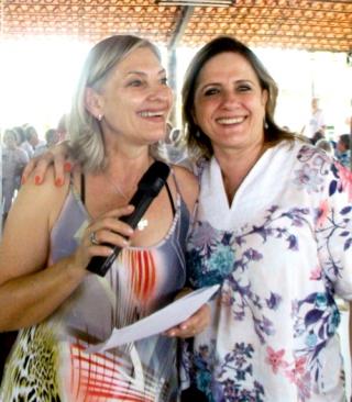 As irmÃÆ'Ã'£s fundadoras da Unabem Leila Andrade e Silvia Soares Maia.