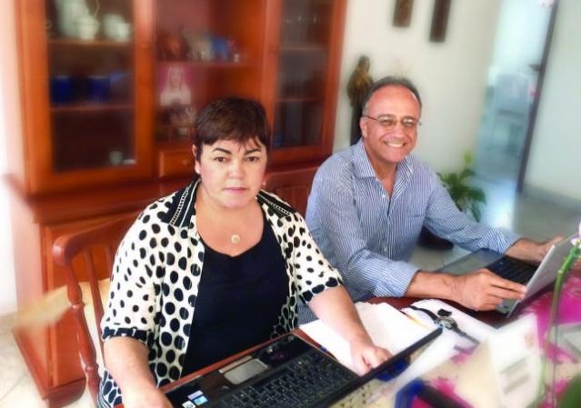 Sônia Lúcia Modesto Zampieron e  João Vicente Zampieron: