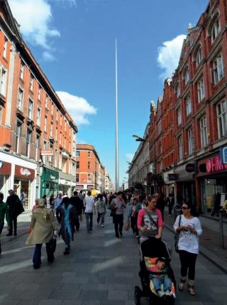 Monumento SPIRE - Ponto de referência em Dublin.