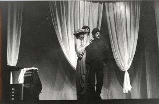 Ezequias em cartaz no teatro, sua grande paixão.
