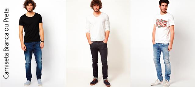 Camiseta Branca ou Preta.