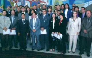 Equipe de Furnas recebe, em Brasília, o Prêmio de Qualidade do Governo Federal, em dezembro de 2011 - Acervo Furnas, Márcio Arruda.