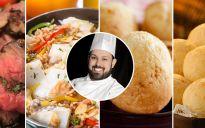 GOURMET: Arroz de Bacalhau | Pão de Queijo de Iogurte | Pão de Queijo Gourmet | Rosbife ao Molho  de Gengibre